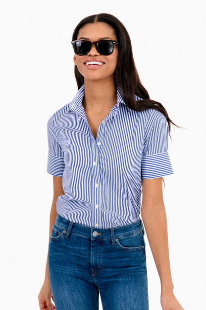essential striped short sleeve icon shirt