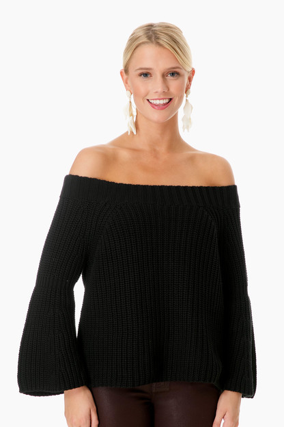 Tulip Off the Shoulder Shaker Sweater Take an extra 30% off with code: HOORAY