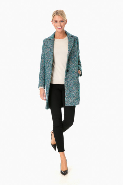 donegal chevron wool coat