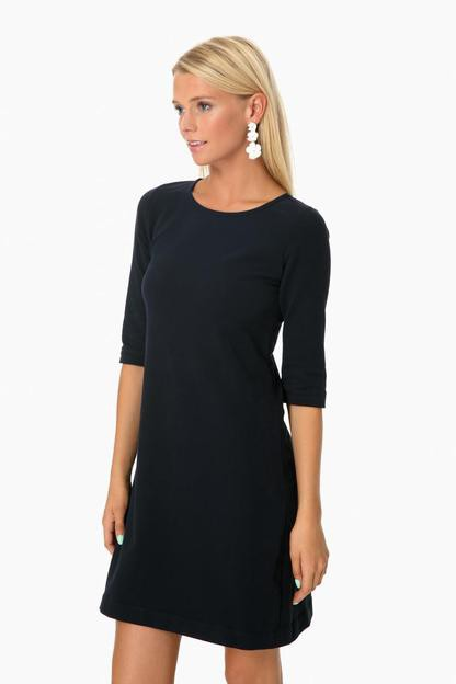 cashmere touch navy jersey dress