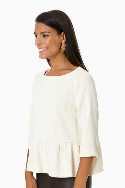 ivory button back blouse