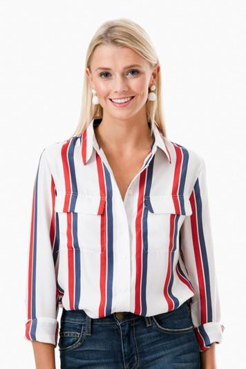 americana stripe signature button down