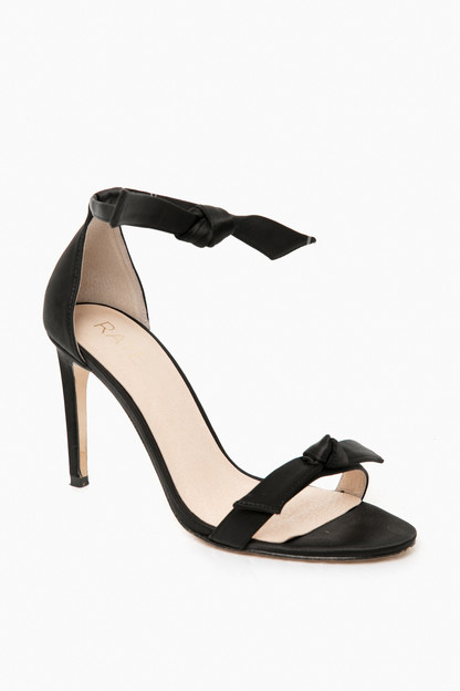 Black Haya Satin Heel