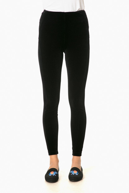 black mara velvet leggings