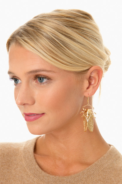 goldbug large drop earrings