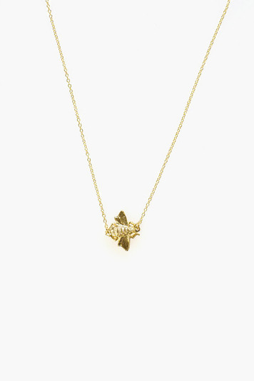 goldbug single bee necklace