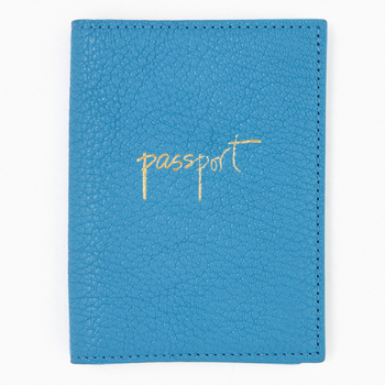 hydrangea goatskin leather passport cover