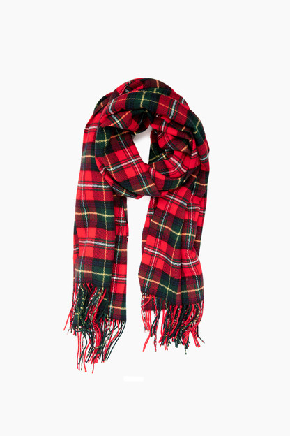 Barbour Red Check Fulmar Scarf