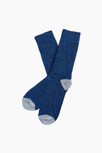 barbour navy houghton socks