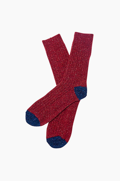 Barbour Red Houghton Socks
