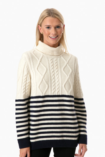 amos cable knit sweater