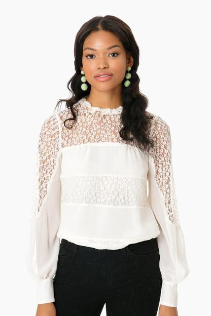 Ivory Silk Jezebel Blouse