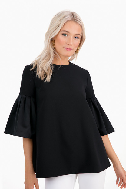 Black Satin Anderson Swing Top