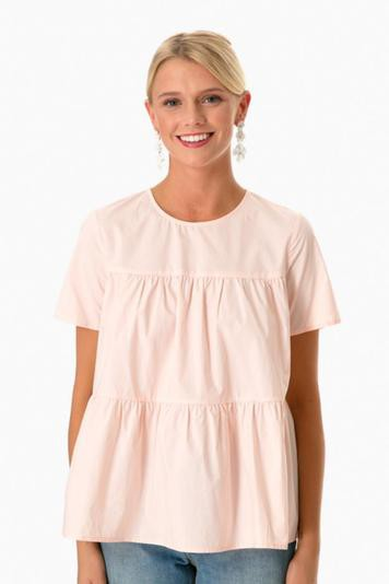blush campbell blouse