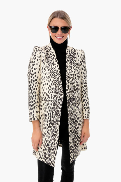 leopard wingtip coat