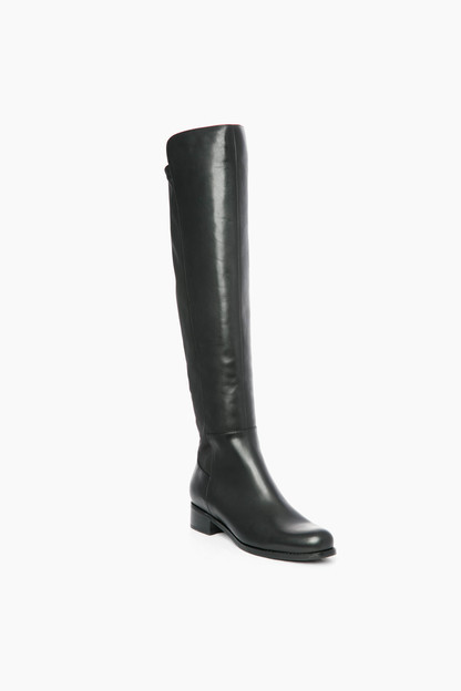 Black Leather Velma Boots