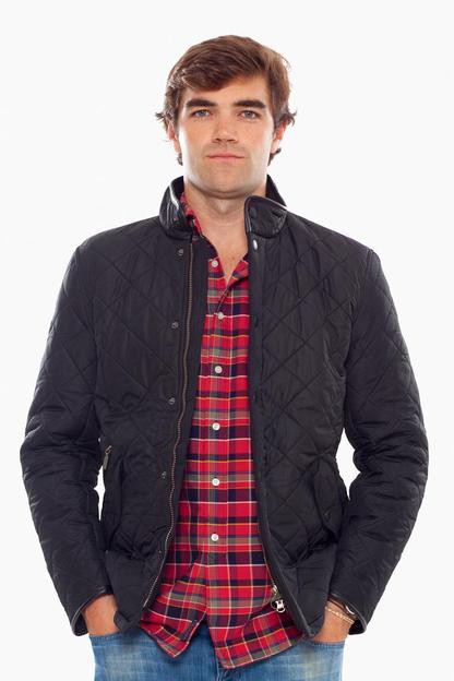 black powell quilted jacket