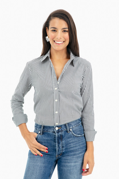 Striped Essential Button Down