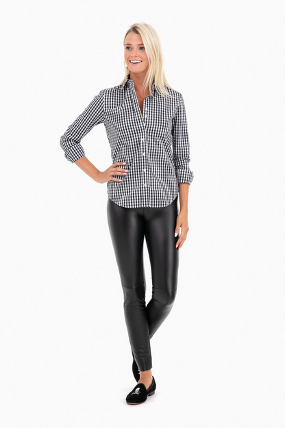 4cde75f1b17a32 Essential Gingham Button Down in Black by The Shirt by Rochelle ...