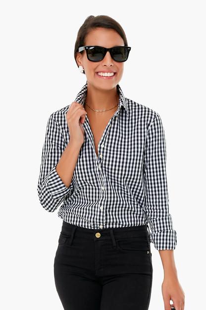 Black Gingham Long Sleeve Icon Shirt