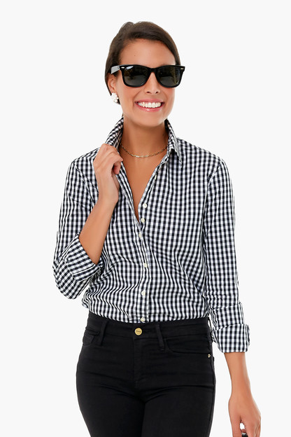 Black Gingham Long Sleeve Icon Shirt Take up to 30% off with code BIGSALE.