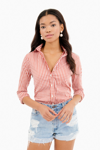 Nantucket Red Wide Gingham Essential Button Down