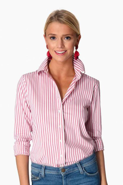 nantucket red wide stripe essential button down
