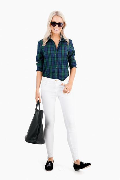 blackwatch plaid essential button down