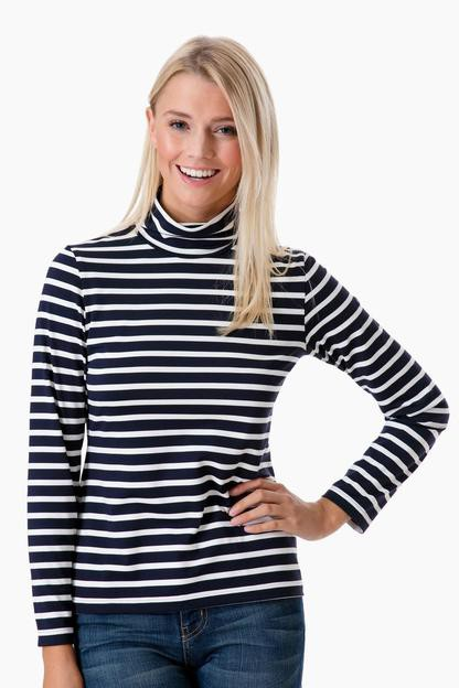 navy-ecume oural turtleneck