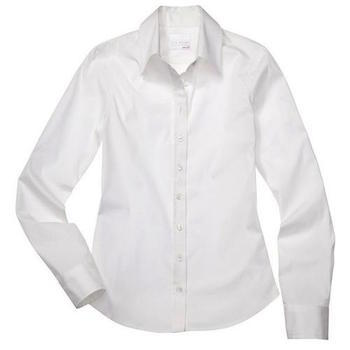 white essential long sleeve icon shirt