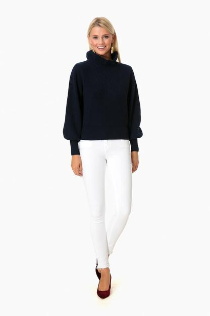 navy claudette sweater