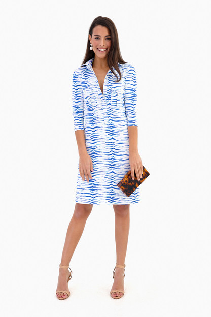 horizon blue zebra winpenny dress
