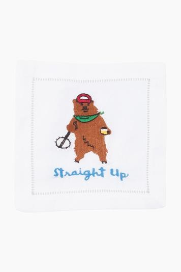 straight up cocktail napkins (set of 4)
