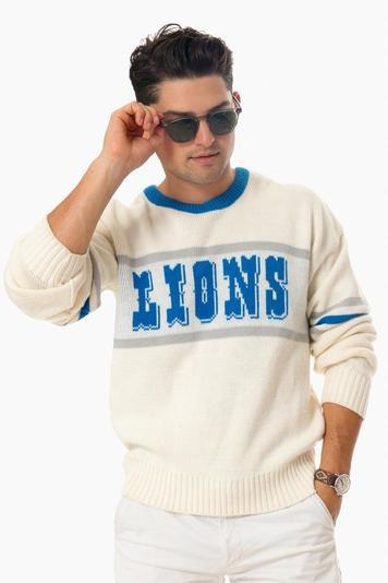 vintage 80's detroit lion's sweater