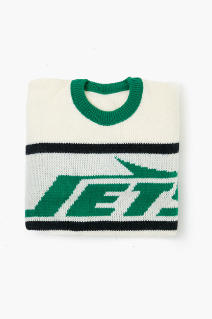 white jets sweater