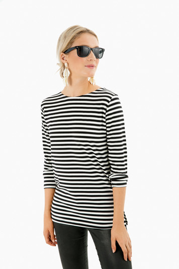 black and white stripe emerson shirt
