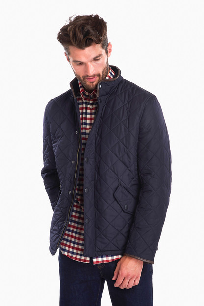 navy powell quilted jacket