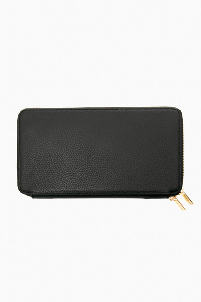 Black Pebble Leather Travel Wallet Extra 25% Off with Code BERRY25