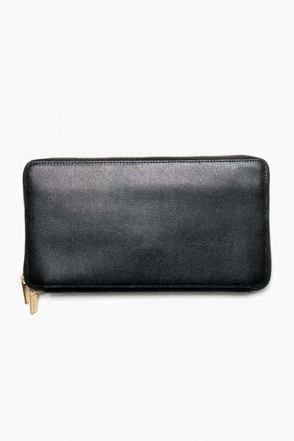 Black Saffiano Leather Travel Wallet