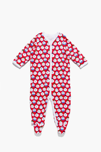 infants snap pajama suit snow global