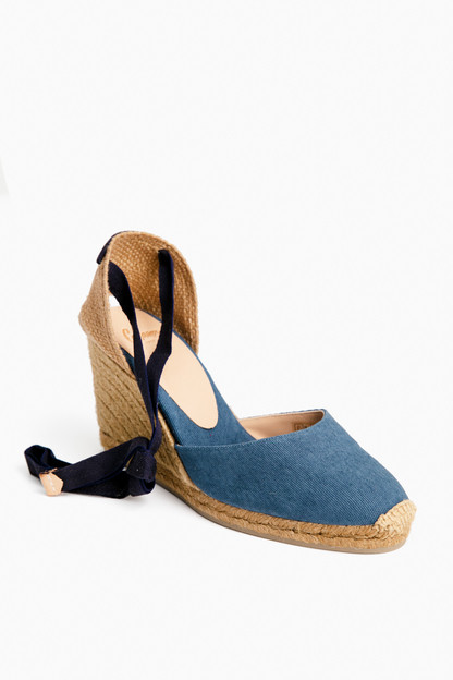 denim carina wedge