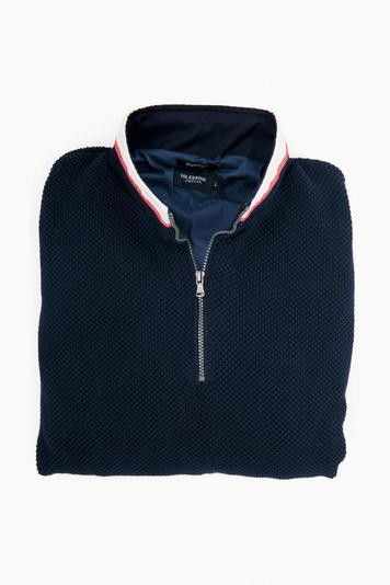 navy classic windproof sweater