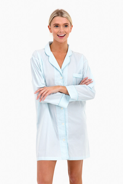 seaglass stripe night shirt