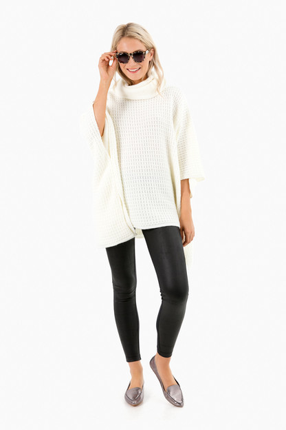 ivory kenmare poncho