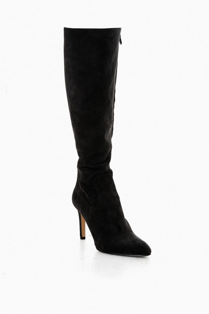 black suede olencia knee high boots