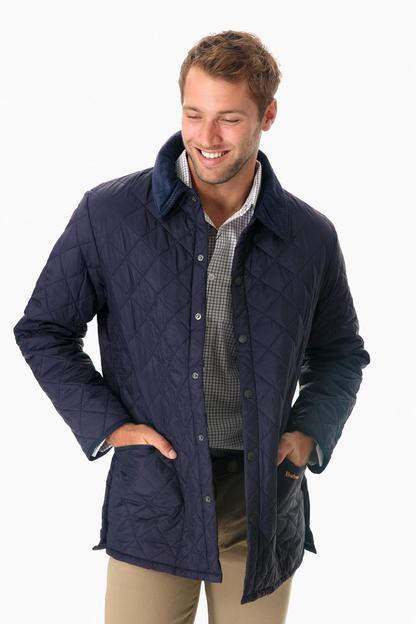 navy quilted liddesdale jacket