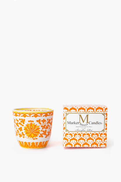 orange lotus candle