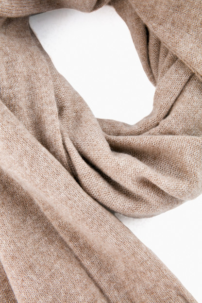 mocha heather essential cashmere wrap