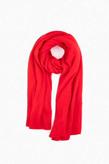 holly red heather cashmere travel wrap