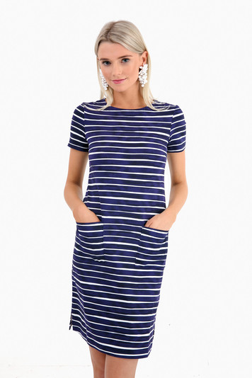 eclipse baie stripe carter dress